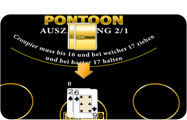 Bekannteste Blackjack Spielvariante Pontoon